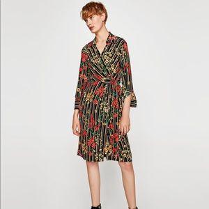 Zara wrap midi dress